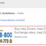 dinarinc google plus