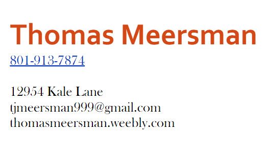 Contract Information For Mark Meersman PIF TopShelf Spguru Thomas-Meersman
