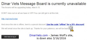 the dinar vets website