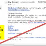 dinarinc spam email screenshot